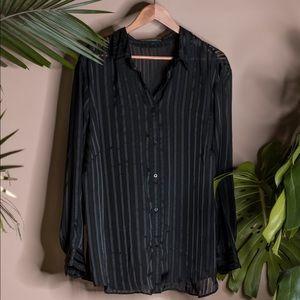 Ralph Lauren Sheer Button Up XL